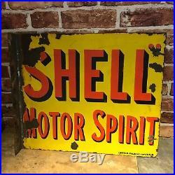 Vintage Enamel Sign -shell #2213