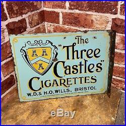 Vintage Enamel Sign -wills Cigarettes Advertising #4391