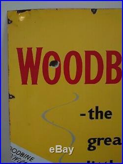 Vintage Enamel Wills Woodbine Sign