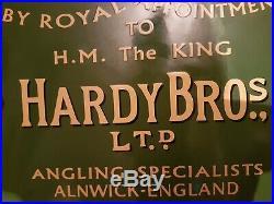 Vintage Fishing Hardy Bros Enamel Sign