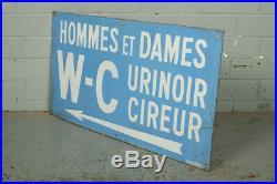 Vintage French Enamel Tin Sign