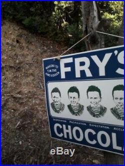 Vintage Fry's chocolate5 little boys advertising enamel sign