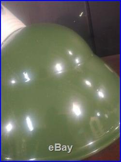 Vintage Green Porcelain Enamel Angled Sign Light Gas Station Petroleum RESTORED