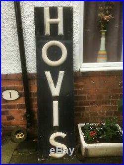 Vintage Hovis Bread Bakery Shop Advertising Sign, Enamel Interest, TV Film Prop