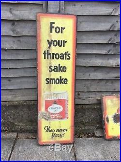 Vintage Large Craven'A' Cigarette Cigar Metal Enamel Shop Tobacco Advert Sign