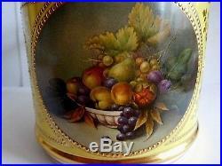 Vintage Lynton Porter Mug With Fruit Jewelling And Enamel Signed A Telford
