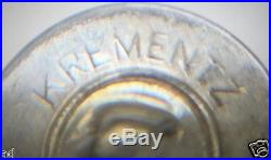 Vintage Mens Cufflinks Signed Krementz Sterling Silver Blue Enamel Guilloche