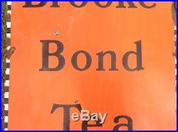 Vintage Metal Enamel Advertising sign Brooke Bond Tea