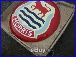 Vintage Morris Enamel Sign 50 CM Diameter