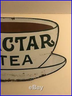 Vintage Nectar Tea Enamel Sign