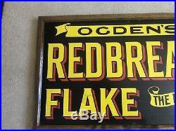Vintage Ogdens Redbreast Flake Enamel Sign 1920s Superb Condition Man cave Pub