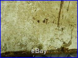 Vintage Original French Castrol Enamel Sign Barn Find