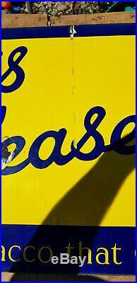Vintage'Player's Please' Pictorial Enamel Advertising Sign