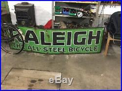 Vintage Raliegh Enamel Sign