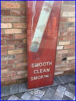 Vintage Rare Early Craven A Glass Cigarette Advertising Sign Shop Display Enamel