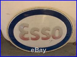 Vintage Rare Esso Sign Not Enamel Iluminated 1980s 1990s