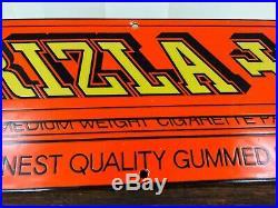 Vintage Rizla Orange Liquorice Enamel Metal Sign Advert Original Rare Tobacco
