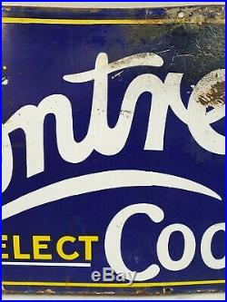 Vintage Rowntrees Elect Cocoa Enamel Sign 36 x 15