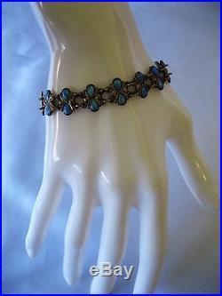 Vintage Signed Volmer Bahner Denmark Sterling Blue Guilloche Enamel Necklace Set