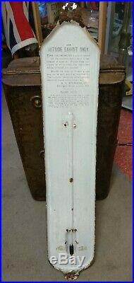 Vintage Stephens Inks Enamel Thermometer advertising sign