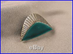 Vintage Swedish Modernist Signed Borgila 1958 Enameled Sterling Abstract Brooch