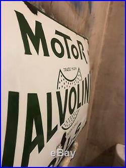 Vintage Valvoline Oil Enamel Sign