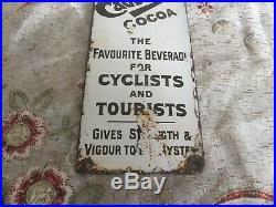 Vintage cadburys Cocoa Enamel Finger Plate Dug Yesterday