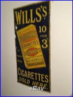 Vintage enamel advertising sign