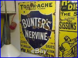 Vintage enamel sign Bunters Nervine