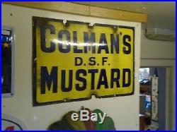 Vintage enamel sign Colmans mustard