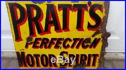 Vintage enamel sign Pratts perfection motor spirit