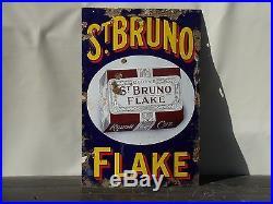 Vintage enamel sign st Bruno