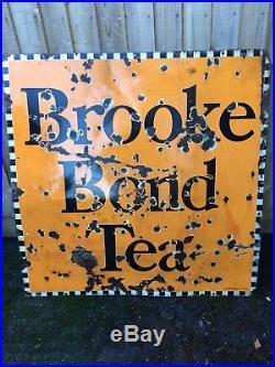 Vintage enamel signs original Brooke bond tea