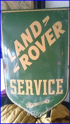 Vintage landrover enamel sign