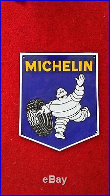 Vintage michelin enamel sign