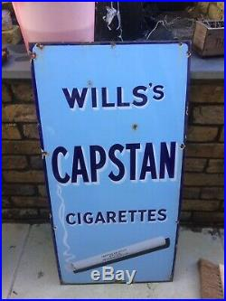 Vintage wills and capstan enamel Sign