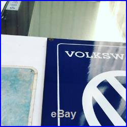 Volkswagen Dealer Vintage Original Enamel Emaille Porcelain Sign