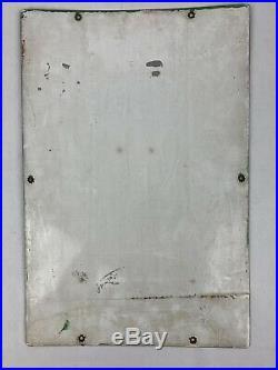 Vtg TEXACO Sky Chief Su-Preme Gasoline Porcelain Enamel Sign, gas pump 3-6-1959
