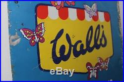 Walls Ice Cream Metal Sign Not Enamel Mancave Collectable Vintage