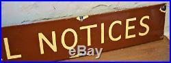 Western single sided special notice railway enamel sign railwayana rail vintage