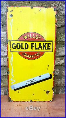 Will's Gold Flake Vintage Original Enamel Sign
