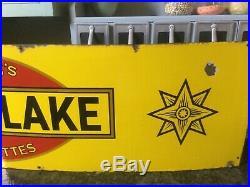 Wills's Gold Flake Vintage Enamel Advertising Sign Single sided